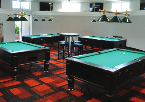 Four green pool tables by Active 8.