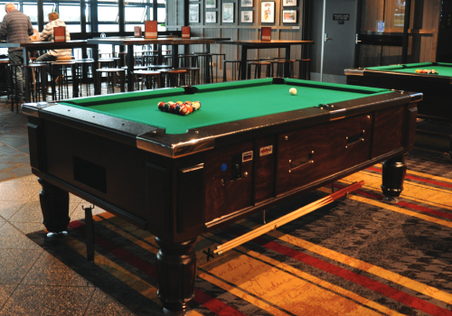 A pool table by Active 8.